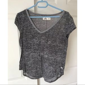 Hollister gray short sleeve top see through Xs